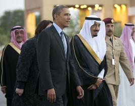 Barack Obama y el príncipeSalman bin Abdulaziz Al Saud.