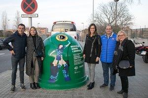 Ecovidre i la UE Santboiana insten a reciclar 2.500 kg de vidre a Sant Boi