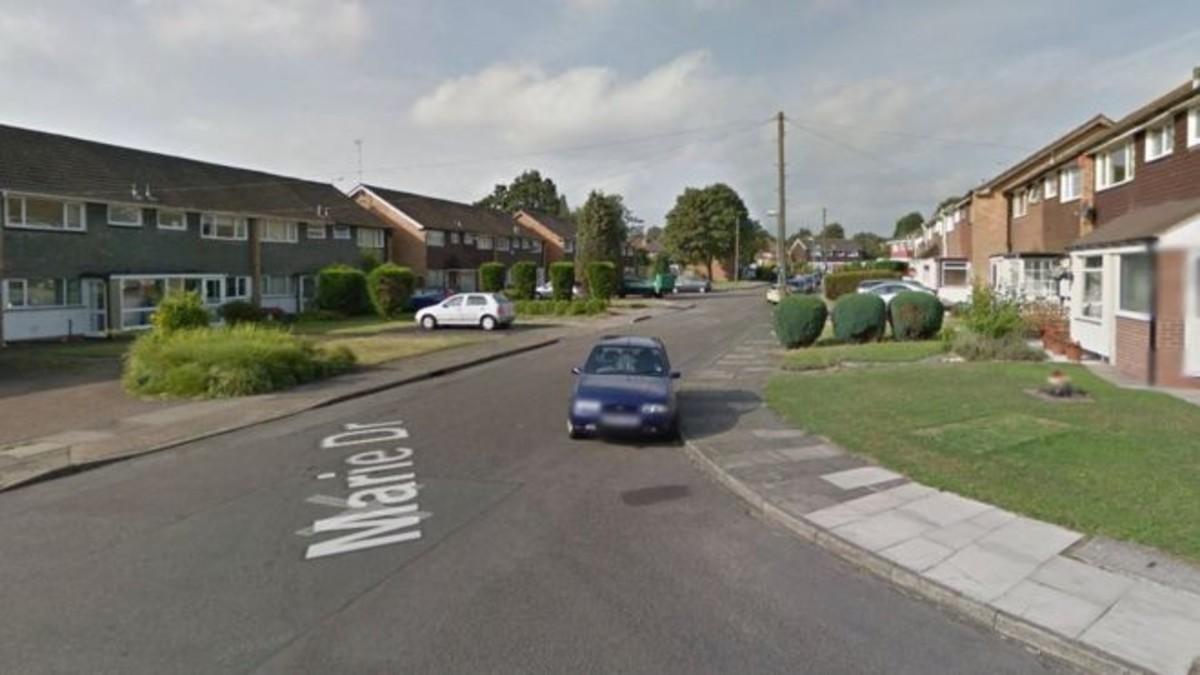 Captura de Google maps de Marie Drive, donde un coche ha sido robado con una bebé dentro.