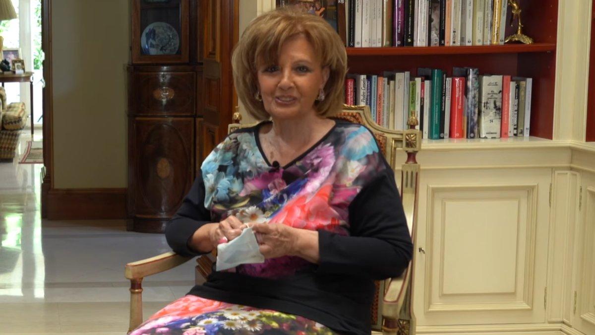 María Teresa Campos estrena programa desde su casa y para YouTube