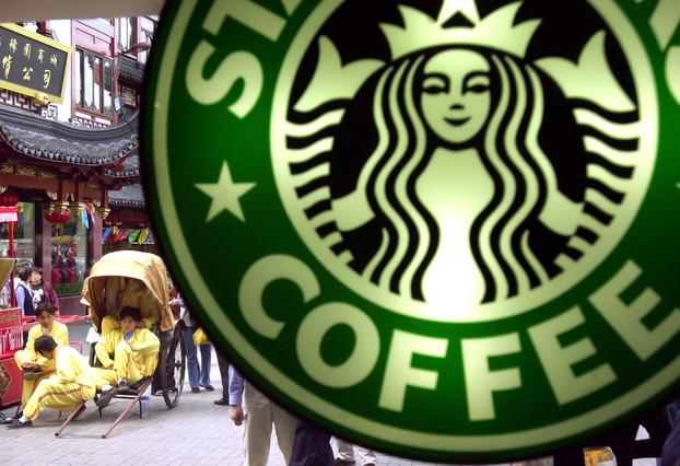 El cartel de un local de Starbucks en Shanghái, en una imagen de archivo.