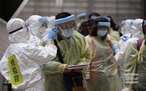 Personal médico en China en la crisis del coronavirus.