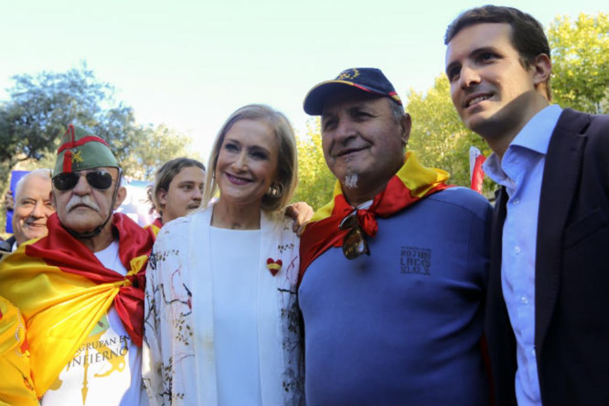 Cifuentes y Casado en un acto en favor de la unidad de España.