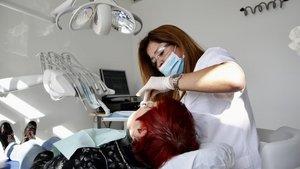 Consulta de una dentista.