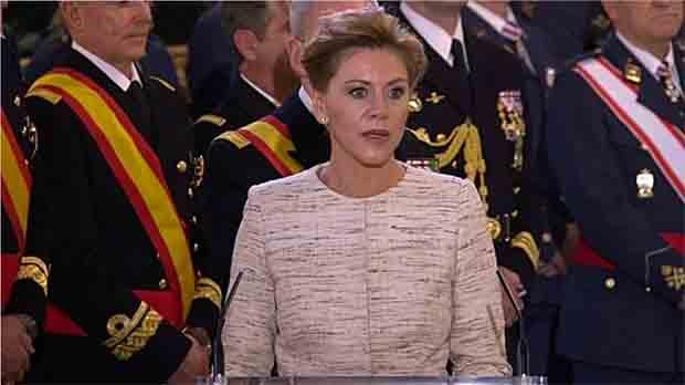 La ministra de Defensa, María Dolores de Cospedal, ha dit avui que no hi ha cap particularisme capaç de trencar la vocació d'Espanya.