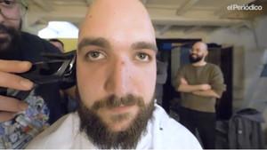 David, uno de los jóvenes calvos con barba.