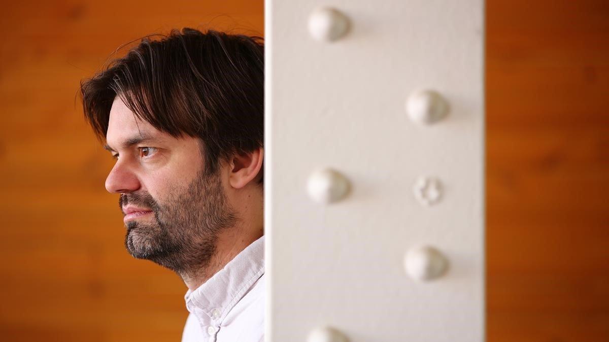 El dibujante belga Olivier Schrauwen, durante su visita al GrafCómic de Barcelona, este marzo.