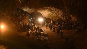 Imagen de 'Rescate en Tailandia', documental de DMax sobre los niños atrapados en una cueva de Tailandia en el 2018