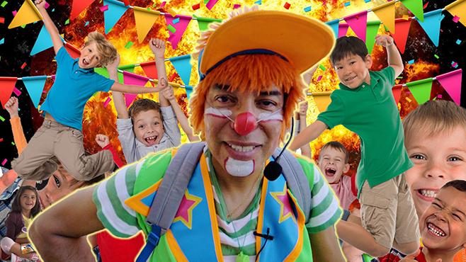 """""""¡Payaso Popi, haz la risa!, me dicen los niños"""""""