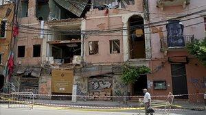 Edificios destruidos en Beirut por la explosión del 4 de agosto.