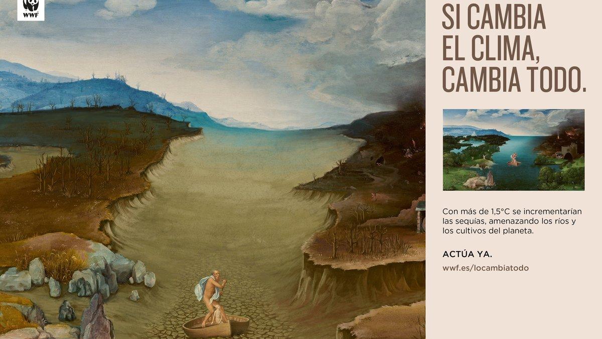 El Paso de la laguna Estigia de Patinir, tras el paso del cambio climático.
