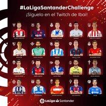 Jugadores participantes en la versión virtual de La Liga de este fin de semana.
