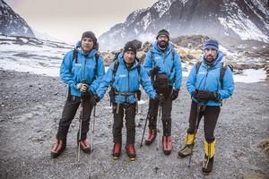 Expedición al Annapurna antes del terremoto. Carlos Martínez, a la izquierda en la foto.