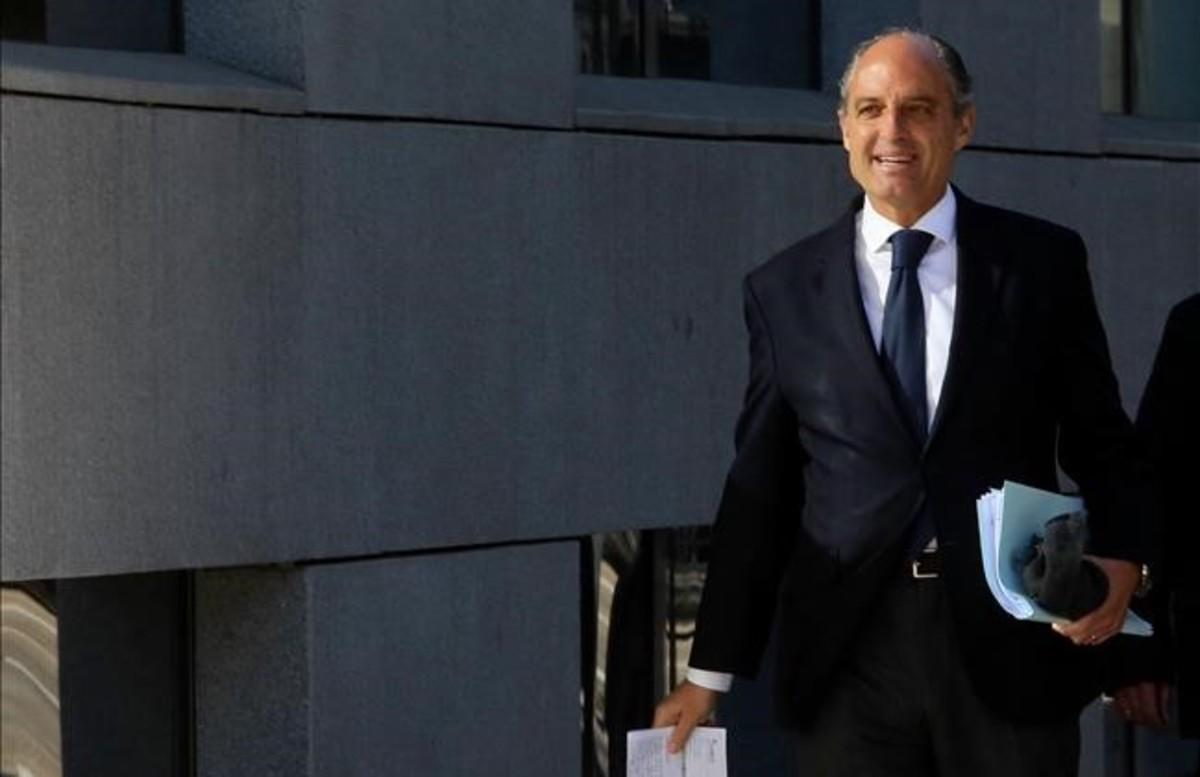 El exvicepresidente valenciano Francisco Camps, el pasado marzo, cuando declaró como testigo en el caso Gürtel.