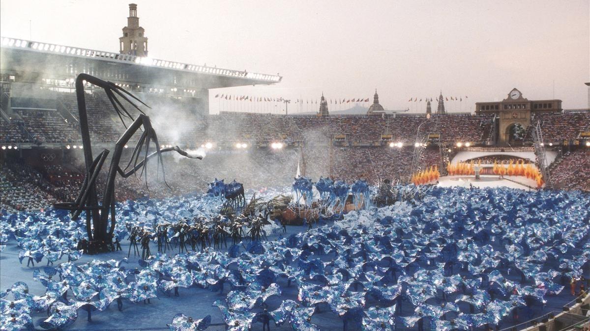 Ceremonia de inauguración de los Juegos Olímpicos de Barcelona.
