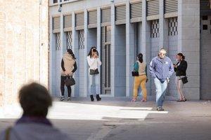 Prostitución en una calle del barrio de Valluters de València.