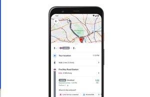 Google Maps, saturación del transporte público en tiempo real.