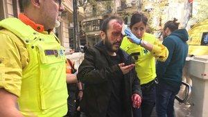 El hombre que ha sido agredido en el metro de Barcelona, según ha denunciado Jusapol.