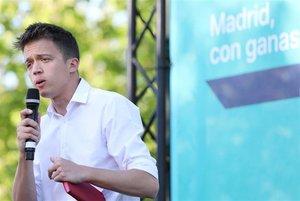 El candidato de Más Madrid a la Presidencia de la Comunidad, Íñigo Errejón.