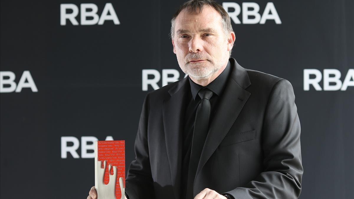 Joan Miquel Capell, ganador del Premi Crims de Tinta 2018.