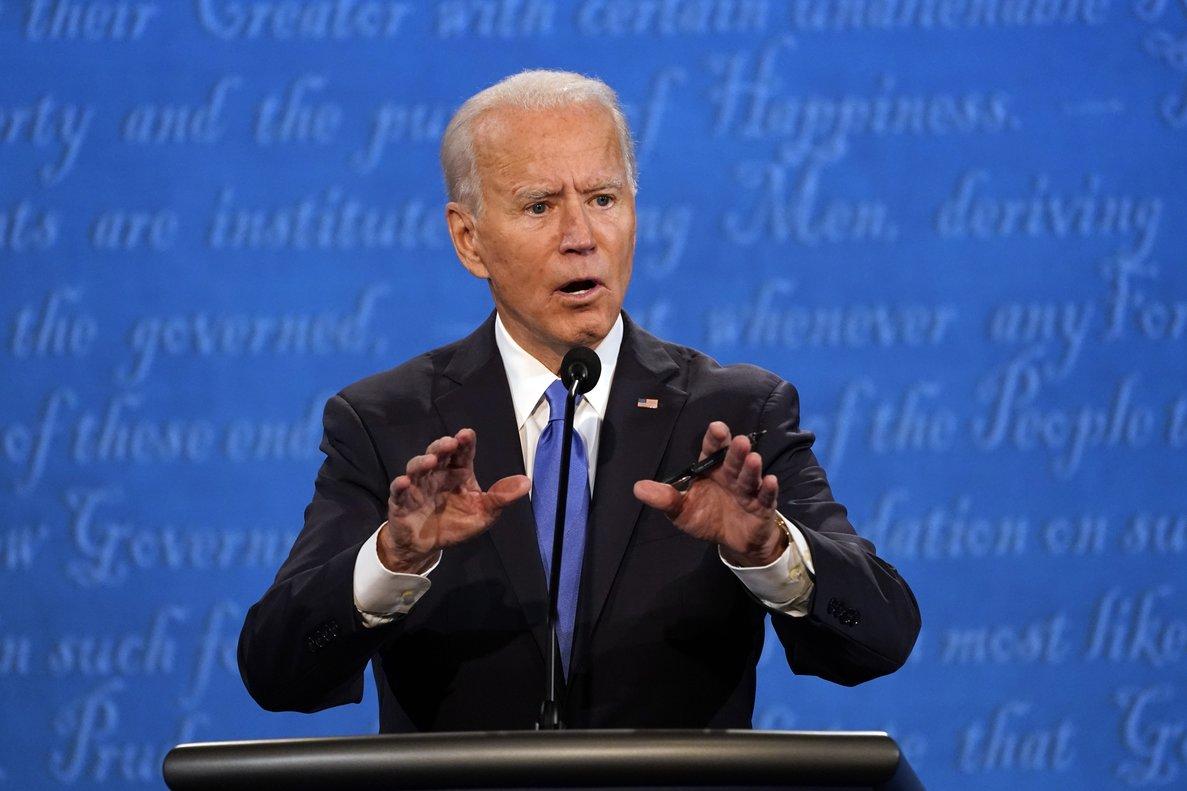 Joe Biden, en una de sus intervenciones en el debate.