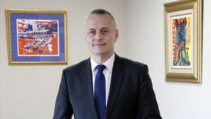 Jorge Cebreiros, presidente de la Conferación de Empresarios de Pontevedra.