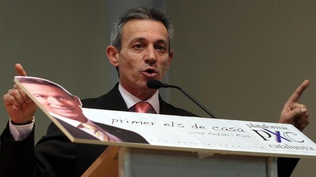 Josep Anglada, en un acto de Plataforma per Catalunya en Salt.