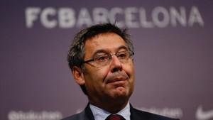 Josep Maria Bartomeu, en una rueda de prensa reciente.