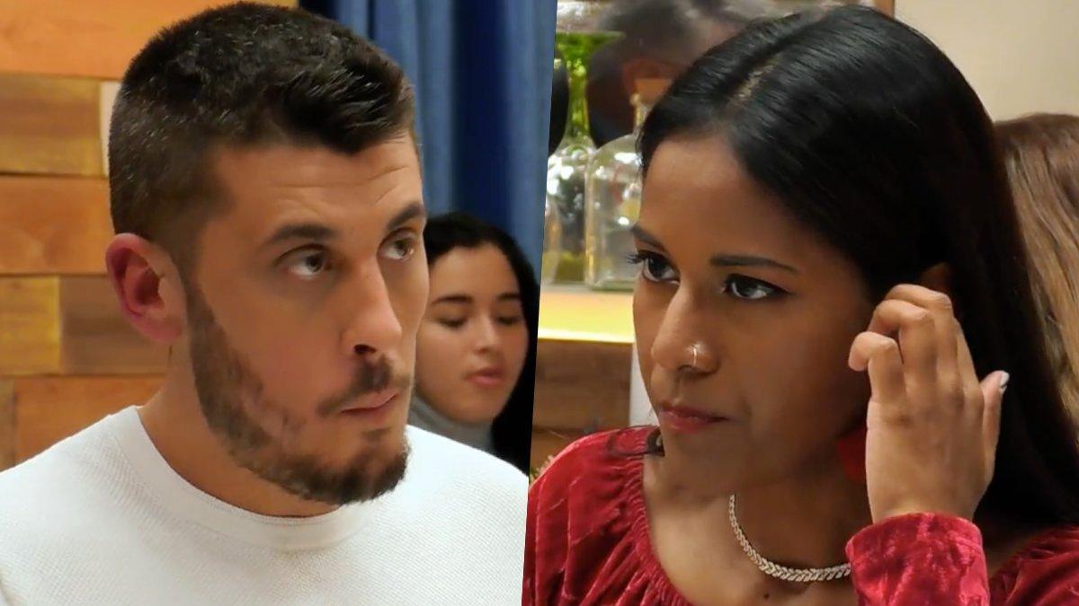 Juan Antonio y Teresa en 'First Dates'.