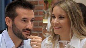 Juan Carlos y Cristina en 'First Dates'.