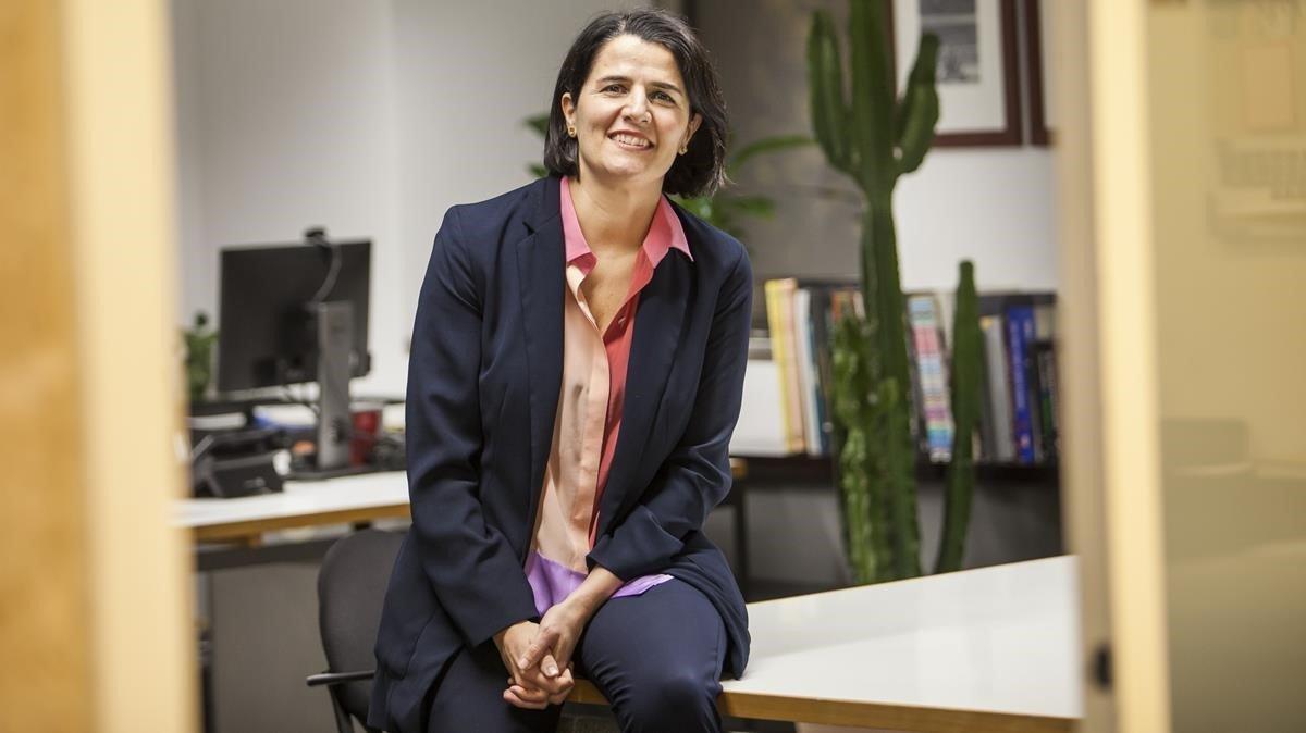 Judit Carrera, en su despacho en el CCCB.