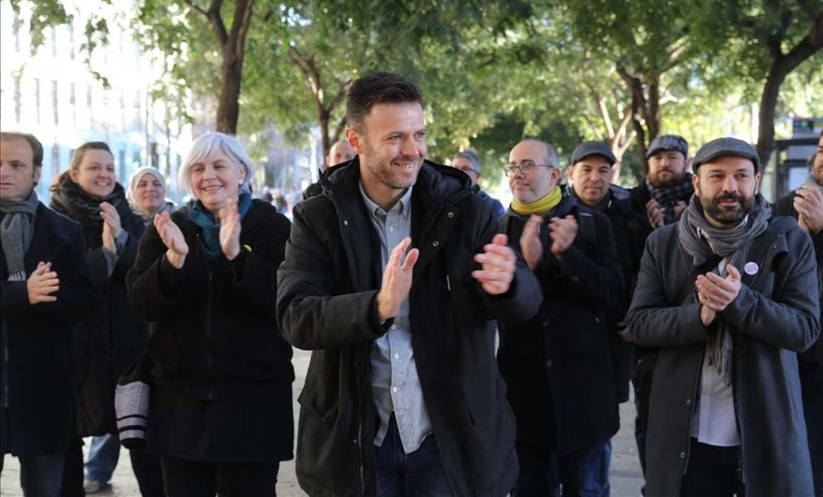 El exteniente de alcalde de Badalona, Josep Téllez, a su llegada al juicio en la Ciutat de la Justíciael pasado 10 de enero.