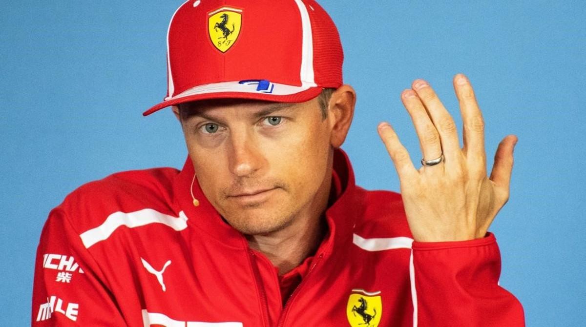 Kimi Raikkonen, en la conferencia de prensa de hoy en Spielberg (Austria).