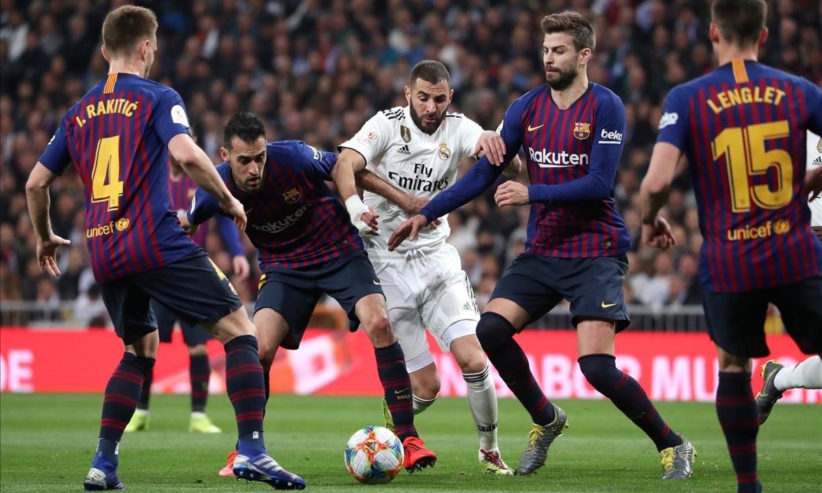 Un lance del partido del Bernabéu.