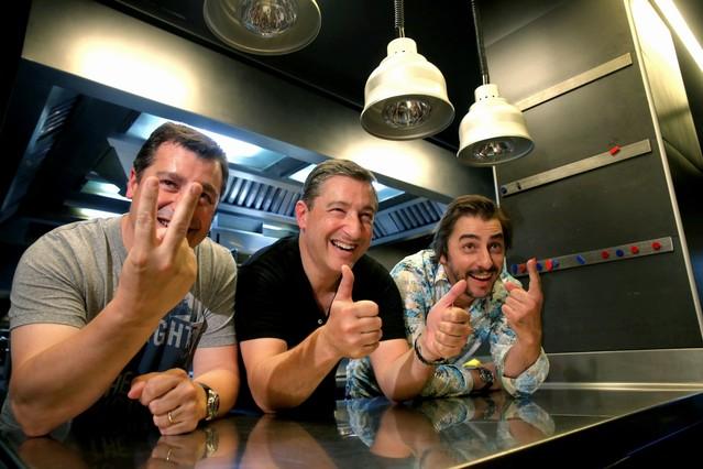 Los hermanos Roca, en su restaurante.