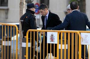 El major Josep Lluís Trapero, a su llegada al Tribunal Supremo, este jueves.