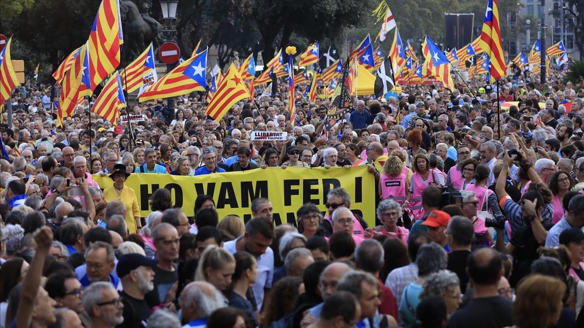 La manifestación que recorre Barcelona.