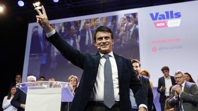 Manuel Valls, el 13 de diciembre, en un acto de presentación de su candidatura.