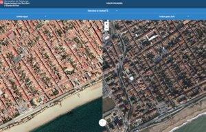 L'abans i el després del temporal 'Gloria', segons el satèl·lit