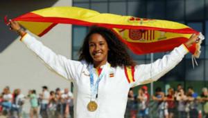 María Vicente, en el podio del europeo juvenil del año pasado