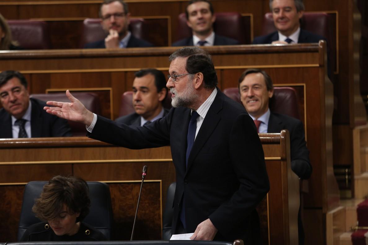 Mariano Rajoy, este miércoles en el Congreso de los Diputados.