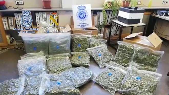 Detenen 22 persones d'una xarxa xinesa que venia marihuana a narcos europeus