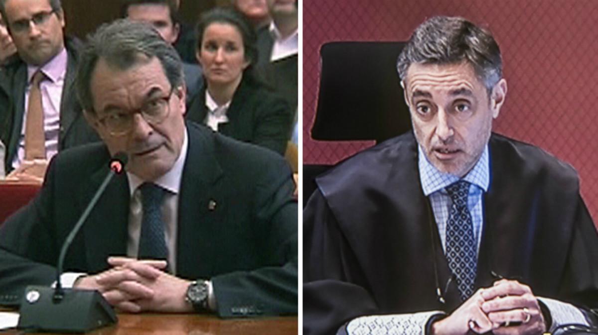 El expresident Artur Mas y el fiscal Emilio Sánchez Ulled.