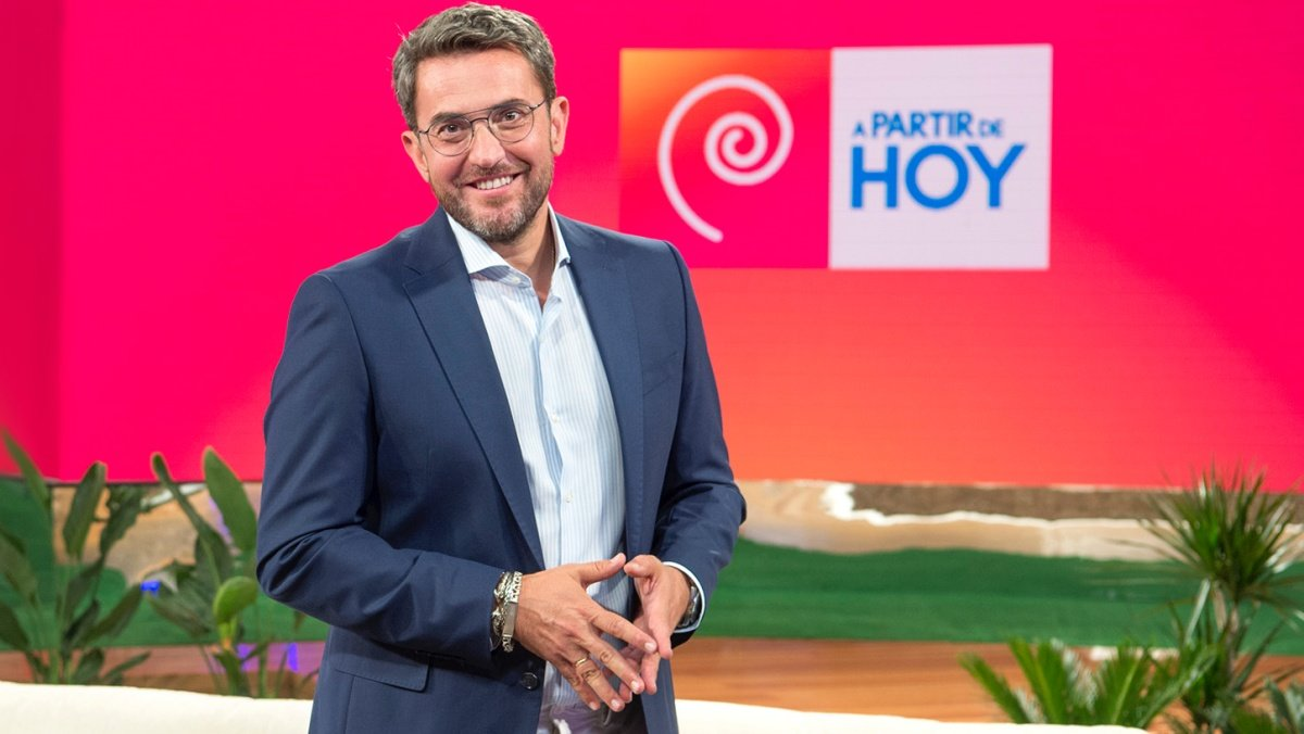 Máximo Huerta en el plató de 'A partir de hoy'.