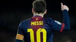 Messi, en un partido del Barça en el Camp Nou.