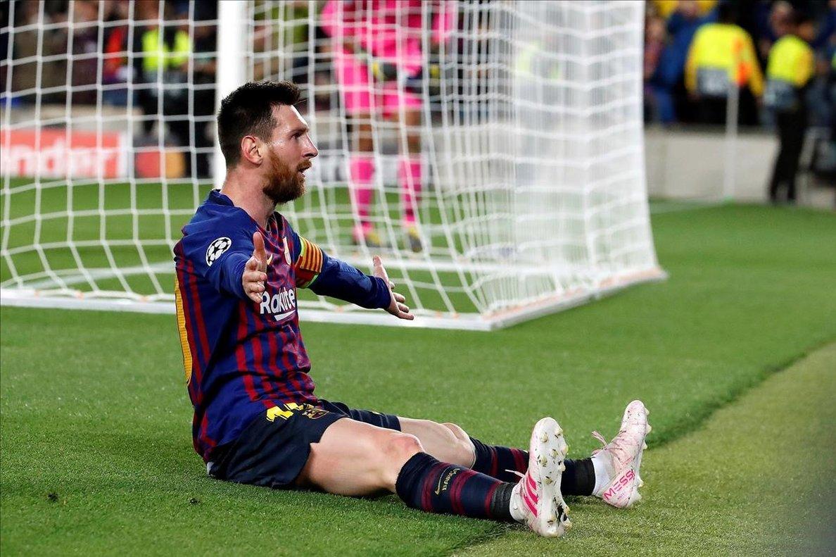 Messi, tras anotar su gol 600 con la elástica azulgrana