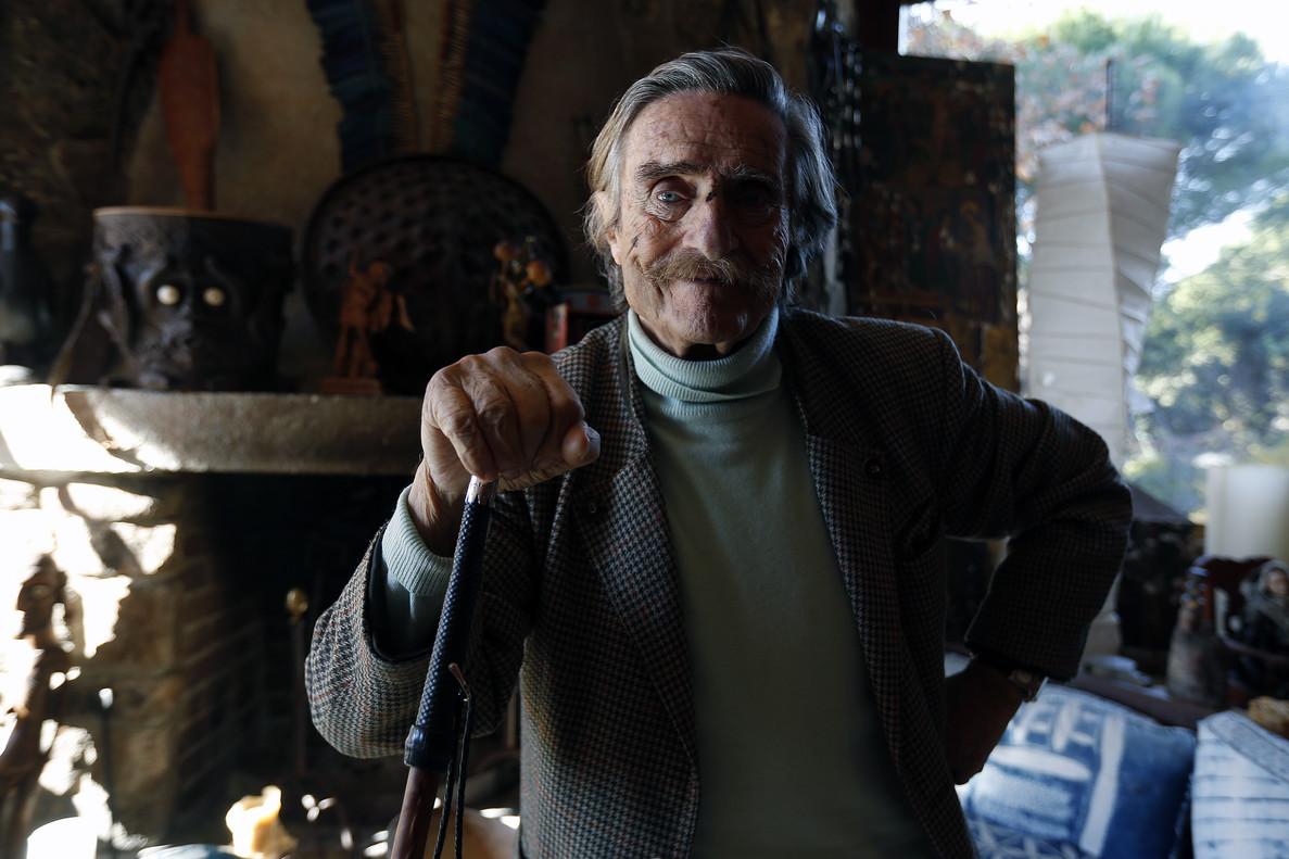 Miguel de la Quadra-Salcedo, en su casa de Pozuelo de Alarcón, en diciembre del 2014.