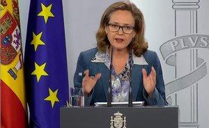 Nadia Calviño, vicepresidenta tercera del Gobierno.