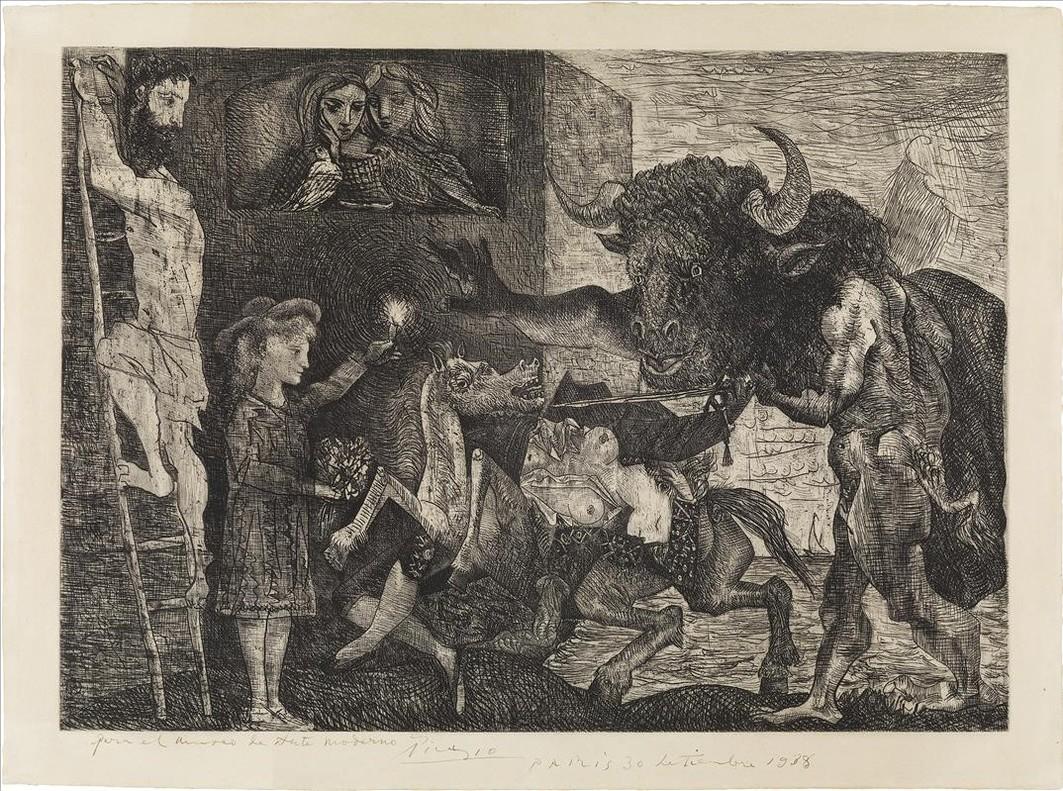 La minotauromaquia(1935), uno de los mejores gabados de Picasso y del siglo XX.