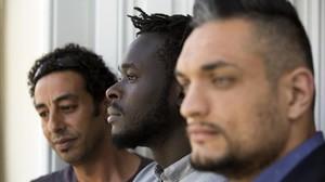 Mohammed, Cheikh y Aaron, este lunes en la presentación de la guía.